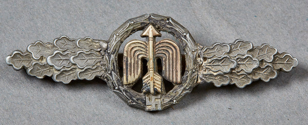 german wwii luftwaffe flying clasp in bronze for long
