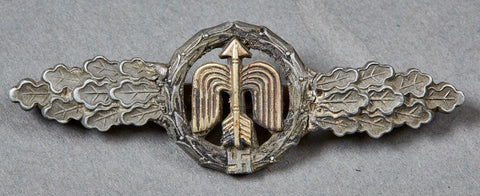 German WWII Luftwaffe Flying Clasp in Bronze for Short Range Day Fighter