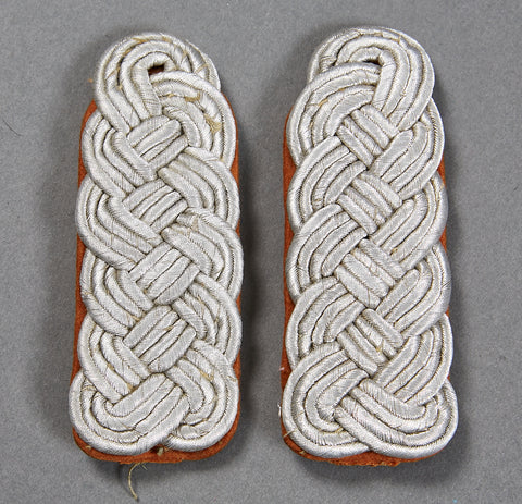 German WWII Luftwaffe Signals Slip-On Shoulder Boards for Major