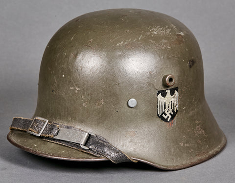 German WWII Reissue Model 18 Double Decal Army Helmet