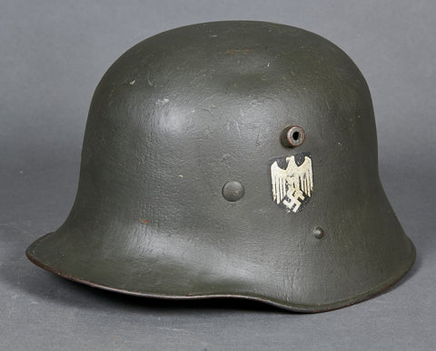 WWII Double Reissue WWI German Army Model 1916 Single Decal Helmet