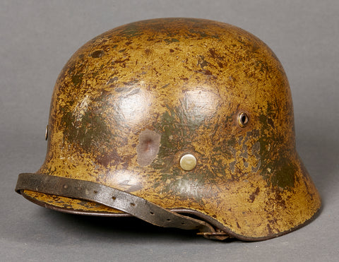 WWII German Army Camouflage Combat Helmet