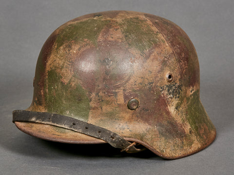 WWII German Model 1935 Army Camouflage Helmet