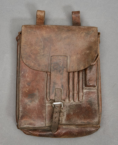 German WWII Brown Leather Map Case