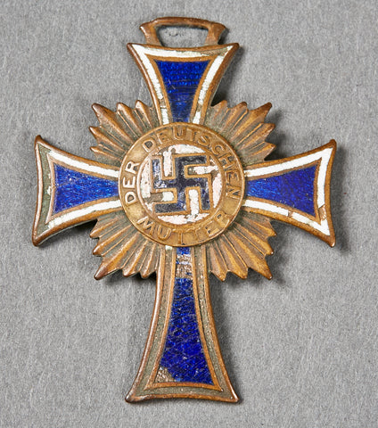 Third Reich German Mothers Cross in Bronze
