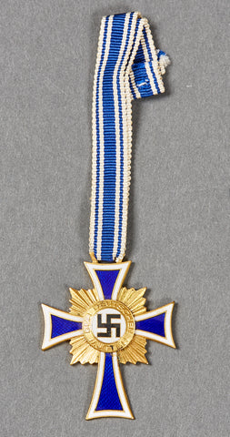 Third Reich German Mothers Cross in Gold