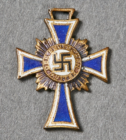 Third Reich German Mothers Cross in Bronze, Miniature