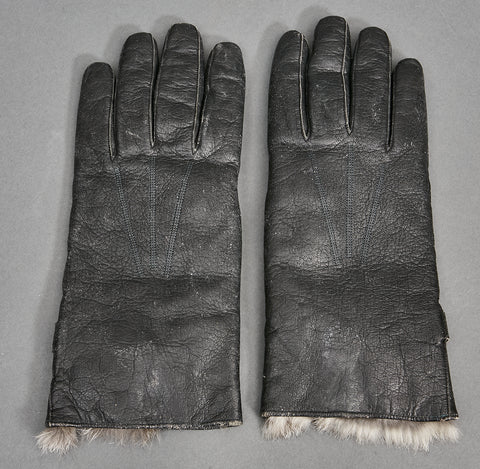 German WWII Wehrmacht Officer's Dress Winter Fur Lined Gloves