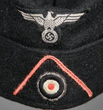 WWII German Army Panzer Side Cap