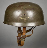 German WWII Model 1938 Double Decal Paratrooper Helmet
