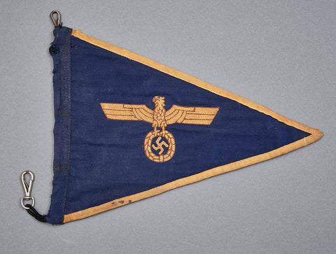 German WWII Navy Car Pennant