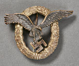 German WWII Luftwaffe Pilot's Badge by Juncker