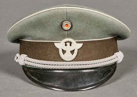 WWII German Police Administrative Officer Visor Cap