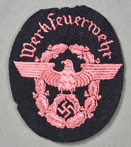 German WWII Fire Police Sleeve Eagle