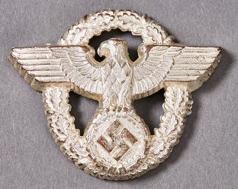 German WWII Police Officer's Visor Cap Insignia