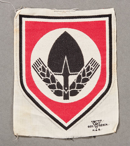 German WWII NAZI RAD Athletic Shirt Insignia