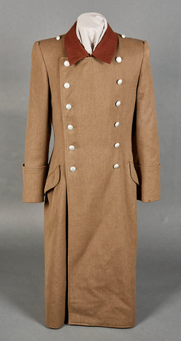 Third Reich RAD NCO Great Coat with Hanger for Hewer