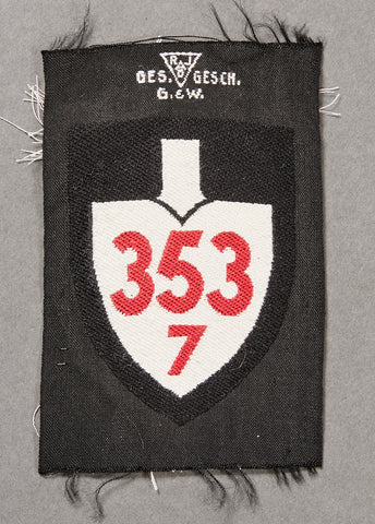 German WWII NAZI RAD Sleeve Insignia