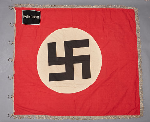 Early Third Reich NSDAP NSBO Flag for Kreis Rottenheim