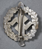 German WWII SA Sports Badge in Silver