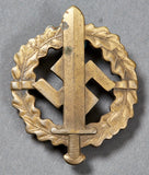 German WWII SA Sports Badge in Bronze Boxed