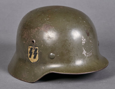 German WWII M35 Double Decal SS Helmet