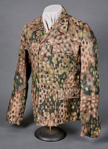 WWII German SS Model 1944 Dot Pattern Camo Combat Tunic