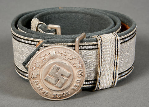 RARE SS Police Brocade Belt and Buckle