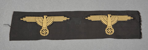 "WWII German Waffen-SS ""Tropical"" Sleeve Eagle, Strip of Two"