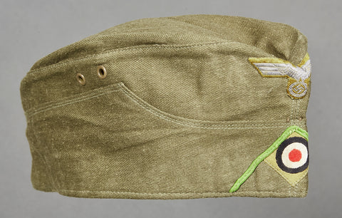 WWII Afrikakorps Side Cap for Panzer Grenadier