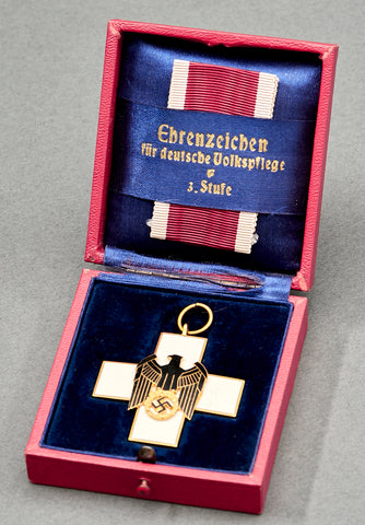Third Reich Cased 3rd Class Social Welfare Medal