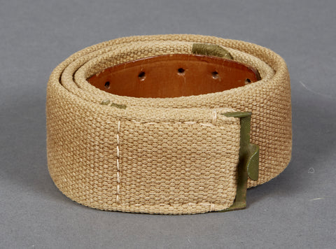 WWII German Tropical Canvas Belt