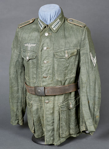 WWII German Army HBT Model 1942 Tunic for Infantry Other Ranks Personnel