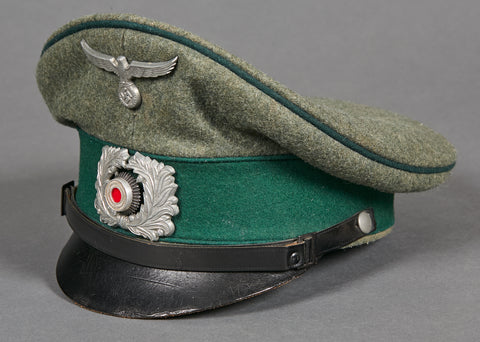 "WWII German Land Customs Visor Cap for ""Other Ranks"" Personnel"