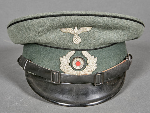 Extremely Early WWII German Army Engineer Other Ranks Visor Cap