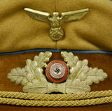 German NAZI WWII Political Leader's Visor Cap for ORTS Level