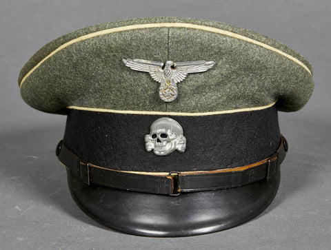 WWII German Waffen SS Visor Cap for Other Ranks Personnel