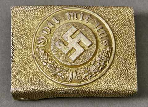 "Third Reich German Water Police ""Other Ranks"" Aluminum Buckle"