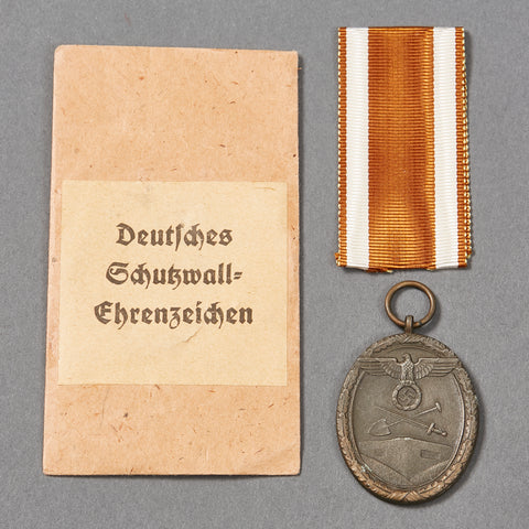Third Reich West Wall Medal w/Packet
