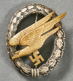 Cased German WWII Paratrooper Badge by Assmann