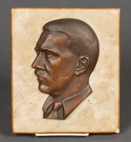 Third Reich Hitler Profile on Marble