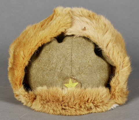 Japanese WWII Army Winter Fur Cap