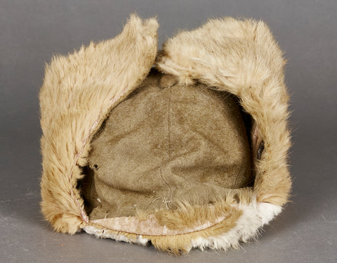 Japanese WWII Winter Rabbit Fur Cap