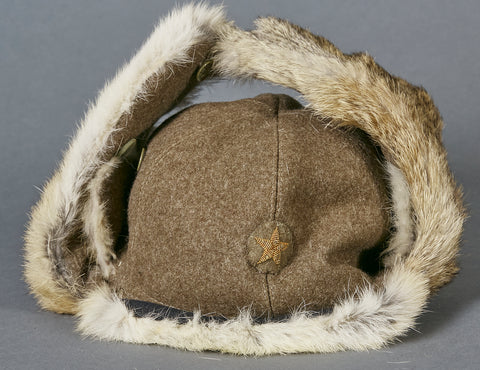 Japanese WWII Army Officer's Winter Fur Cap
