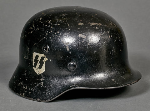 "German WWII Model 40 Danish ""Schalburg"" SS Helmet"