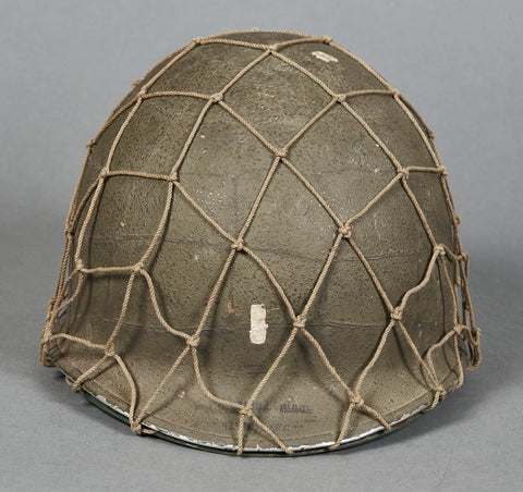 WWII USMC M-1 Helmet with Net