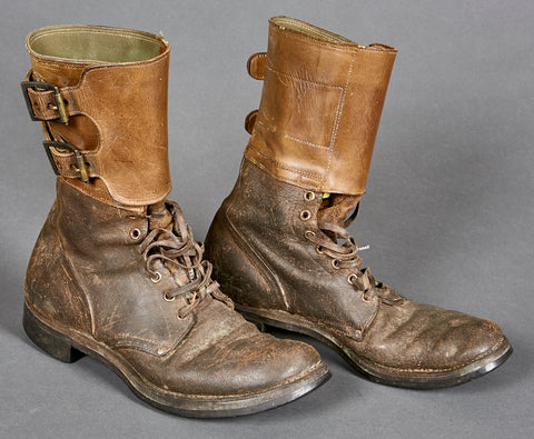 WWII US Army Double Buckle Combat Boots
