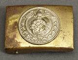 Small, Early SA Type Hitler Youth Brass Buckle