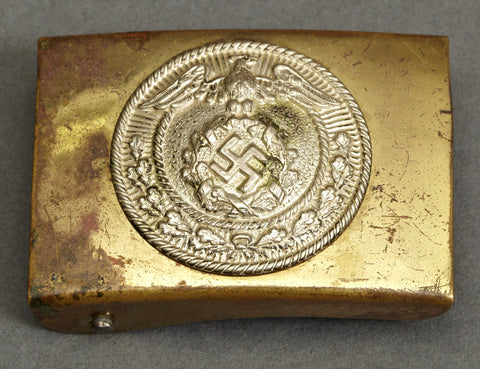 Small, Early German SA Type Hitler Youth Brass Buckle