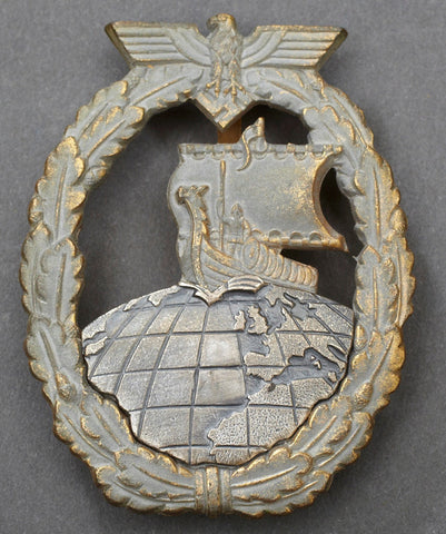 WWII German Navy Auxiliary Cruiser War Badge
